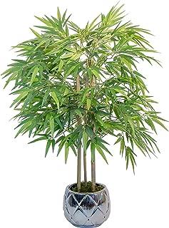 Bambou Artificiel à Anches Naturelles, Idéal pour la Décoration de La Maison, Arbre Artificiel, Plante Artificielle (105 cm)