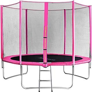 comprar comparacion SixBros. SixJump 3,05 M Trampolín Cama elástica de jardín Fucsia - Escalera - Red de Seguridad - Lluvia Cobertura TP305/1694