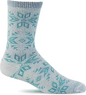 Sockwell Women's Winterlust Snowflake Patterned Hiker Crew Socks