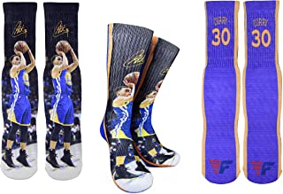 Forever Fanatics Golden State Steph Curry #30 Basketball Crew Socks ✓ Stephen Curry Autographed ✓ One Size Fits All Sizes 6-13 ✓ Made In USA ✓ Ultimate Basketball Fan Gift