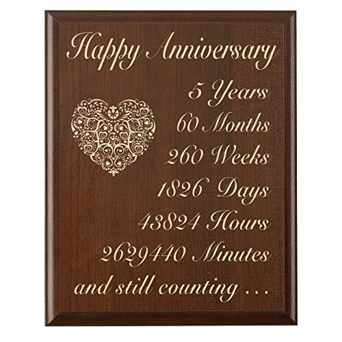 5 Year Wedding Anniversary Gift Ideas For Her: 5 Year Anniversary Gift For Him: Amazon.com