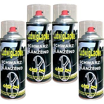 4 Lackspray Schwarz Glänzend 400 Ml Je Spraydose Auto