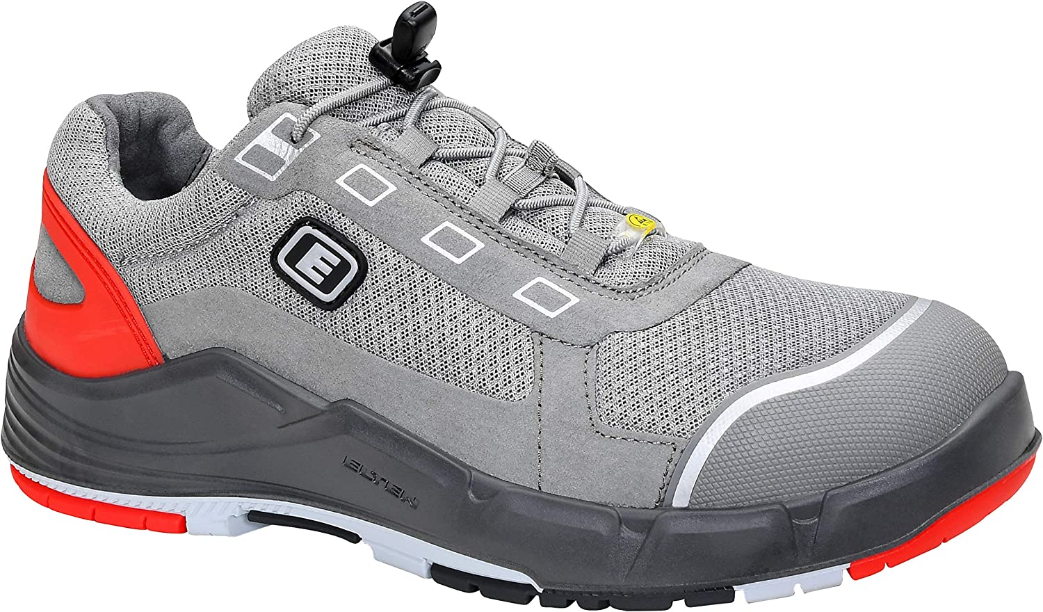 Elten 72412-49 Miguel Low ESD S1 Sporty Safety shoes, Mirco Fibre, Textile Lining, Steel Toe, Heel Stabiliser, Size 3-12