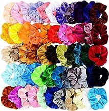 Chloven 55 Pcs Premium Velvet Hair Scrunchies Elastics Bobbles Hair Bands Scrunchy Hair Ties Ropes Scrunchie for Women Gir...