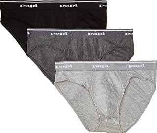 papi Men's 3 Pack Low Rise Brief