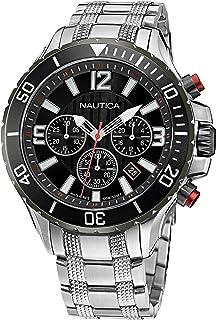 Nautica Men's Quartz Stainless Steel Strap, Silver, 22 Casual Watch (Model: NAPNSS124)