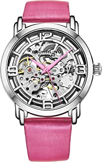 Original Watches for Women Automatic Watch - Skeleton Watch Self Winding Womens Dress Watch Leather Watch Strap Mechanical Wrist Watch for Woman Ladies Watch Collection