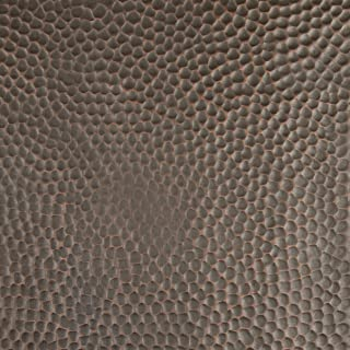 CopperSmith Range Hood - Finish Sample in Dark Antique Copper & Beehive Hammered Texture.