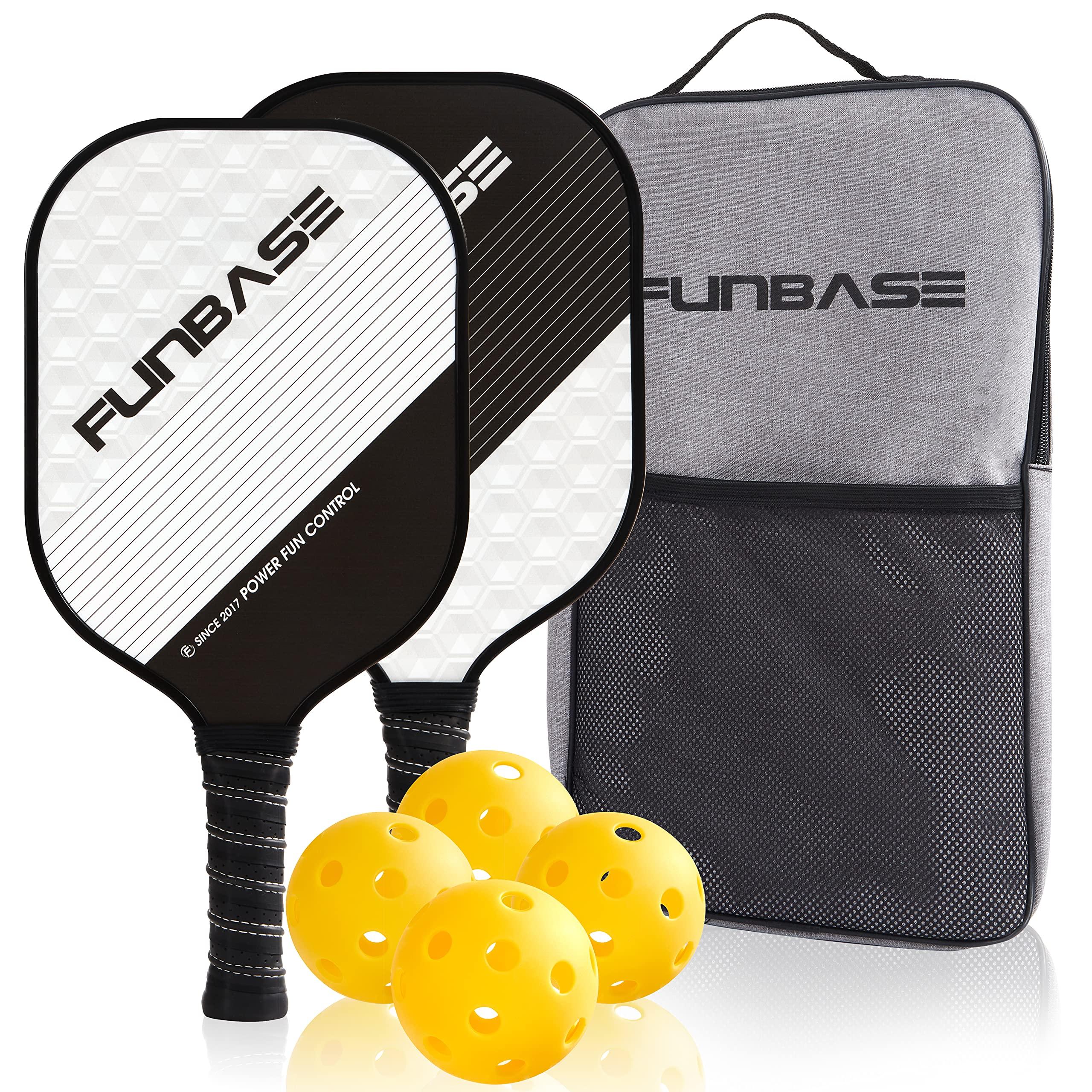 FunBase Pro Graphite Pickleball Paddles Set of 2 Racke -G6HQ