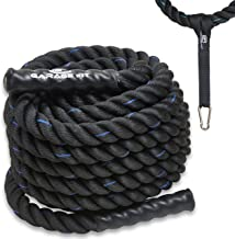 "Heavy Ropes for Exercise Training- 1.5""/2"" 30' 40' 50' Lengths- Heavy Duty Polyester- Waterproof Grip Ends- Wear Resistant..."