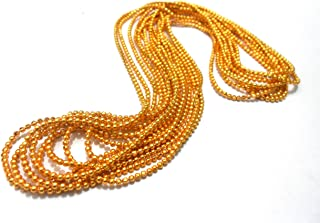 Goelx Golden Ball Chain pastable for decorating jewelry,bangles,Jhumki,craft work approx 4-5 yards