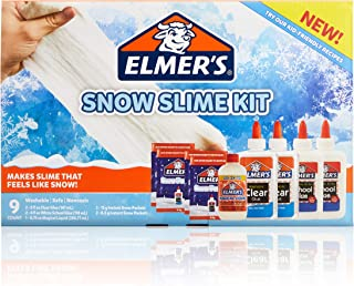 Elmer'S Snow Slime Kit | Slime Supplies Include Clear Liquid Glue, White Liquid Glue, Magical Liquid Slime Activator, Instant Snow Packets, 9 Count