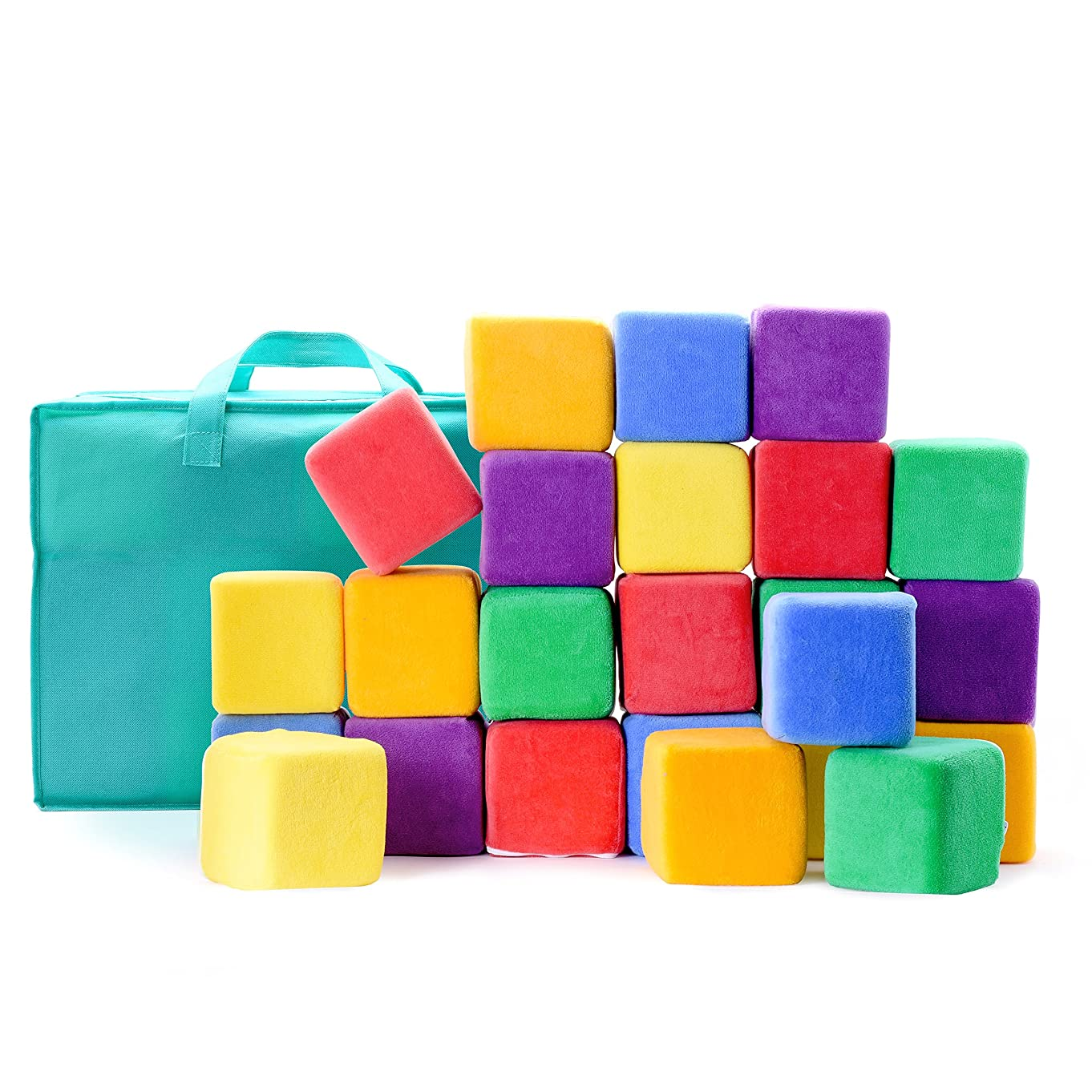 Milliard Soft Foam Blocks, Jumbo Size, for Stacking Sorting and Building, 24 4