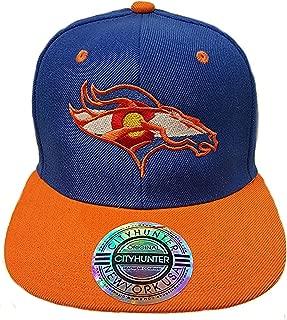Colorado Flag Bronco. Snap Back Hat. Royal/Orange. CO PRM