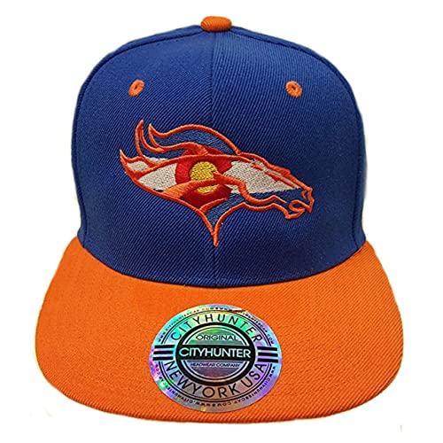 Colorado Flag Bronco. Snap Back Hat. Royal Orange. CO PRM 950459b685d0