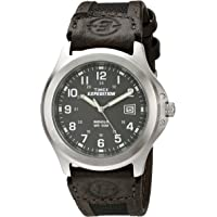 Timex T40091SU Men's Expedition Metal Field Watch (Black/Brown/Charcoal)