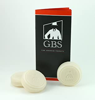 GBS 97% All Natural Shave Soap Made in The USA - 3 Pack. Scents : Ocean Driftwood, Sandalwood and Bayrum. Creates a Rich Lather Foam for Wet Shaving Experience - Made with Shea Butter and Glycerin