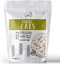 Raw Essentials Gluten-Free Rolled Oats, 1 kg [Breakfast Oats, Protein Rich, High Fibre]