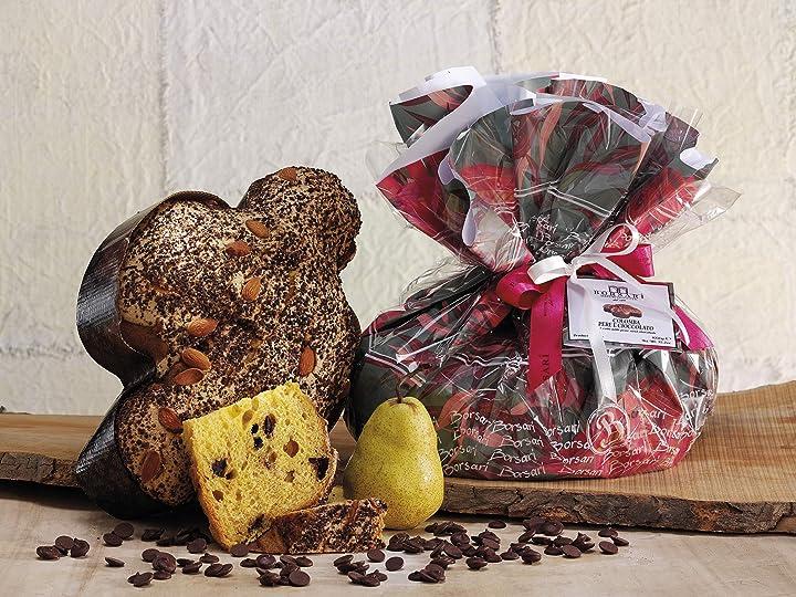 Colomba pasquale pere e cioccolato fiori di primavera ciuffo, artigianale, 100% made in italy, 1 kg. B08X1D9VWH