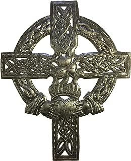 Small Celtic Wall Cross, Love Friendship, Decorative Figurine, Handmade in Haiti 7 in. x 9 in.