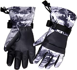 Azarxis Kids Snow Ski Gloves, Children Winter Windproof Warm Touchscreen Snowboard Gloves for Boys & Girls