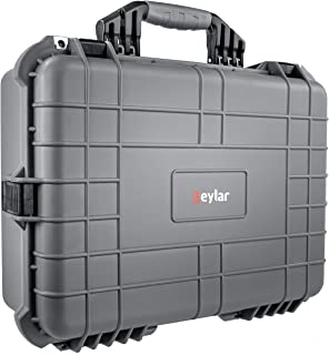 Eylar 20 Inch Protective Large Tactical Gun Hard Case Water and Shock Proof with Foam Gray
