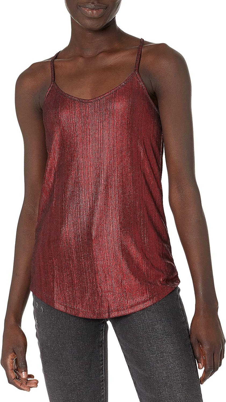 Angie Women's Textured Metallic Cami