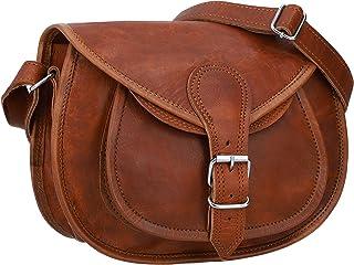 Gusti Handtasche Leder - Romy Umhängetasche Abendtasche Vintage Braun Leder