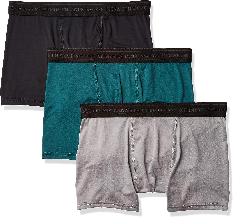 Kenneth Cole New York Men's Microfiber Boxer Brief Underwear, Multipack