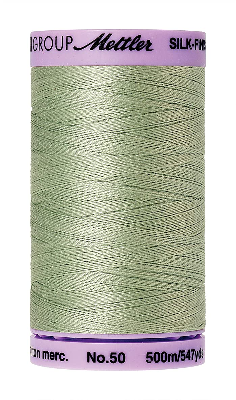 Mettler 9104.1095000000005 Silk Finish Cotton Thread 50wt 547yd-Spanish Moss, 547 yd/500m, Spanish