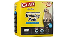 Glad for Pets Black Charcoal Puppy Pads | Puppy Potty Training Pads That Absorb & NEUTRALIZE Urine Instantly | New & Improved Quality