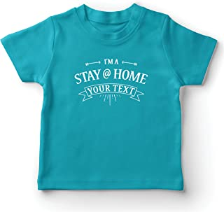 lepni.me Kids T-Shirt Custom Stay Home Personalised Text with Family Love