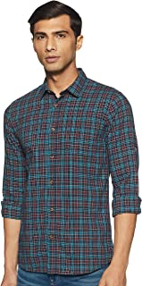 Ruggers by Unlimited Men's Checkered Regular Fit Casual Shirt