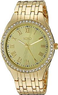 ساعة اكس او اكس او كوارتز للنساء مع سوار من المعدن، ذهبي، 20 (XO190)