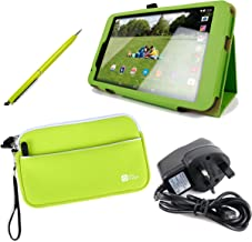 DURAGADGET Tesco Hudl 2 Case Bundle - Folding Folio Kick-Stand Cover in Green with Stylus Holder for New Tesco Hudl 2 + Bo...