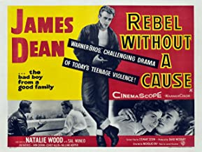 "DROB Collectibles 1955 James Dean Rebel Without a Cause Movie Poster Reprint - Vintage Theater Advertisement (17"" x 22.5"" Wall Decor Travel Poster) Archival Ink in Professional Photo Paper"