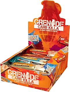 Grenade Carb Killa High Protein and Low Sugar Candy Bar, 12 x 60 g - Variety Pack