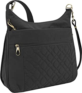 Travelon Women's Anti-Theft Signature Quilted Expansion Crossbody Cross Body Bag