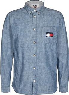 Tommy Jeans Men's TJM Chambray Badge Shirt Shirt