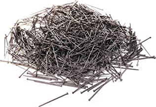 Sewing Straight Pins 1000 Pack - 1 Inch Long Flat Head Stick Pins Dressmaker Stainless Steel Silver Craft Dress Tailor Fab...