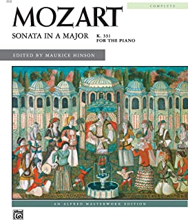 Sonata in A, K. 331 (Complete) (Alfred Masterwork Edition)
