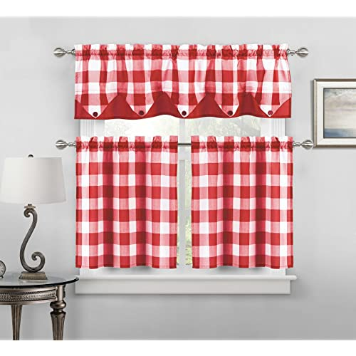 Sensational Red And White Cafe Curtains Amazon Com Download Free Architecture Designs Grimeyleaguecom