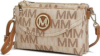 MKF حقيبة كروس للنساء، مقبض معصم - محفظة رسول من الجلد الصناعي - حقيبة يد قابلة للتعديل بحزام كتف