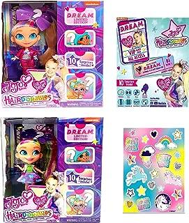 Hairdorables JoJo SIWA D.R.E.A.M Dolls Style A + B (2-Pack) Bundle Set + Unicorn Stickers!