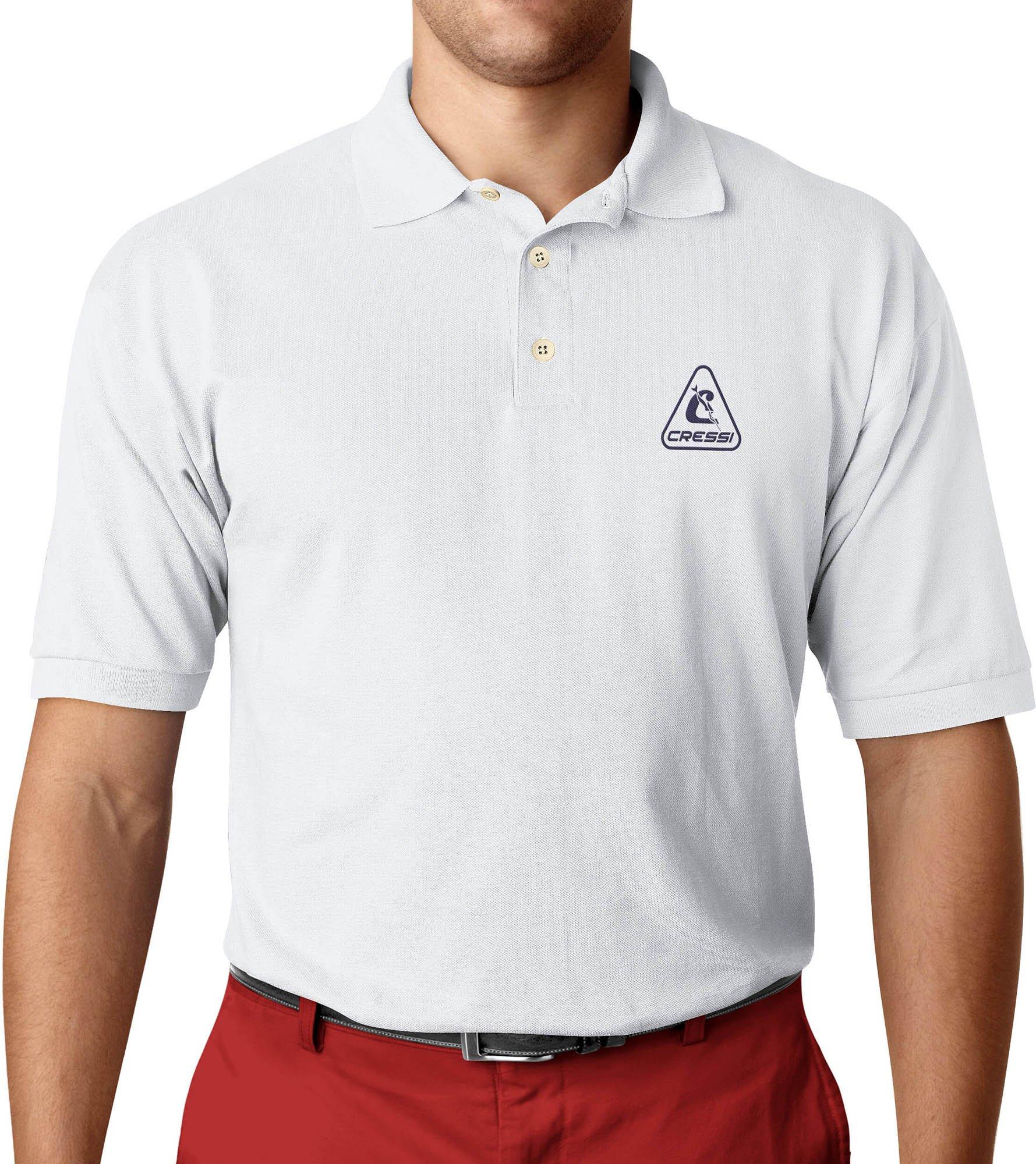 Cressi Herren Shirt Polo, Weiß, 6/XXL