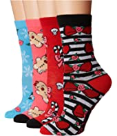 Betsey Johnson - 4-Pack Betsey Holiday Crew Box