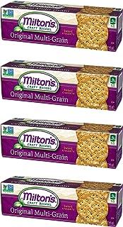 Milton's Gourmet Crackers (Multi-Grain). Multi Pack of Multi-Grain Non-GMO Baked Crackers (Pack of 4, 8.3 ounce box).