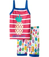 Hatley Kids - Tropical Pineapple Tank Pajama Set (Toddler/Little Kids/Big Kids)