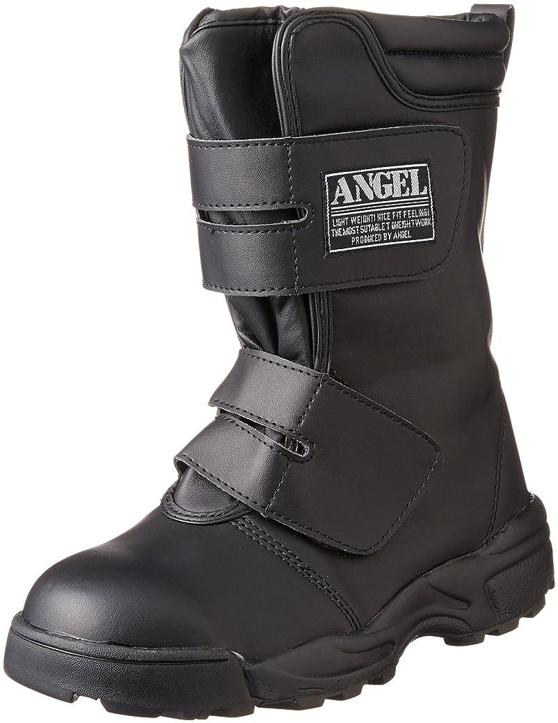 肥沃な懲戒恐ろしいです[エンゼル] 先芯入りスニ-カ-合皮長マジック作業靴 A250 6B089 メンズ