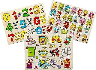 Wallxin Puzzles - Puzzles de madera para niños (2 3 4 5 años de edad)